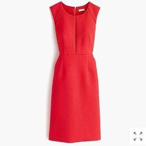 New J. Crew Portfolio Dress in Warm Cerise Red 6